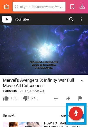 InsTube download button in YouTube