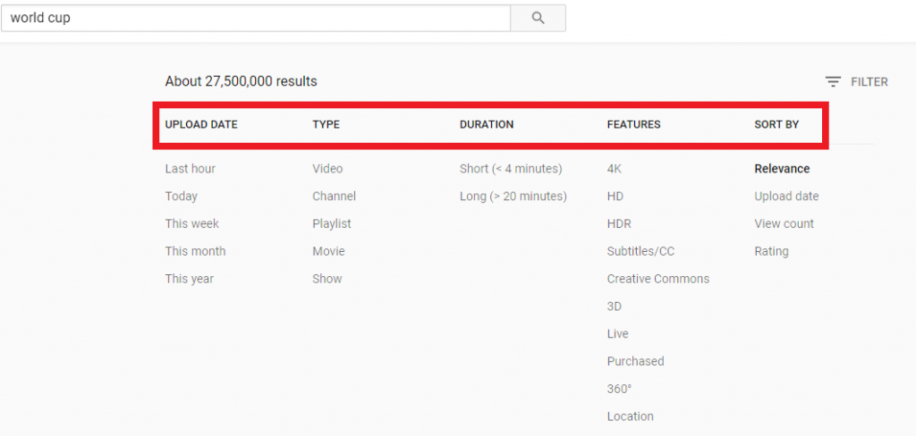 how to find the videos you want in YouTube