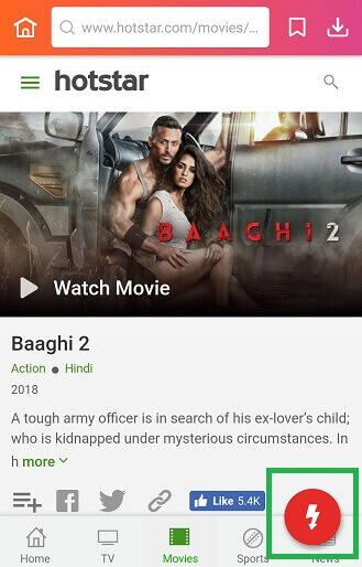 download movie from Hotstar