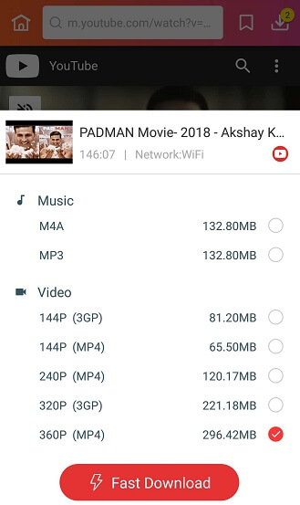 Download Padman Movie via InsTube