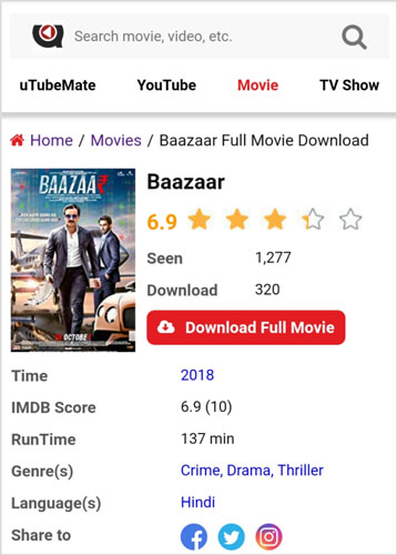 Bazaar-movie-download-uTubeMate