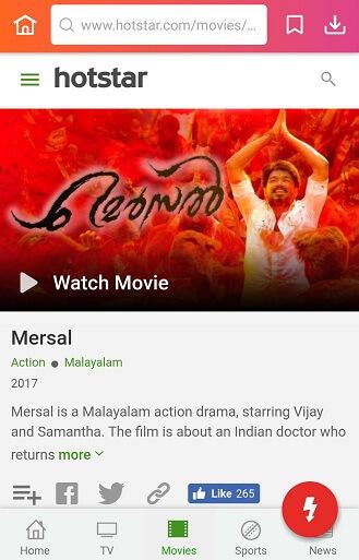 watch Mersal movie online