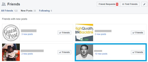 Block someone on FB