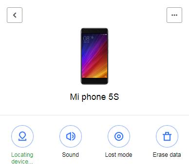 Mi Cloud Find Device is Locating Xiaomi Phone