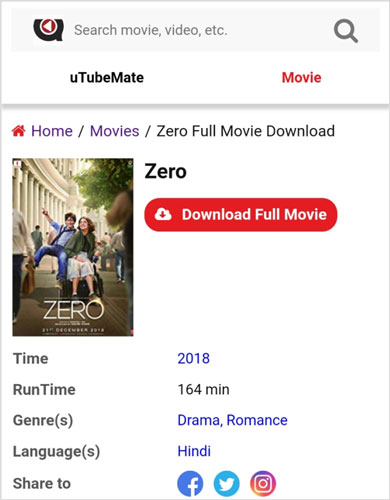 uTubeMate-Zero-2018-full-movie-download
