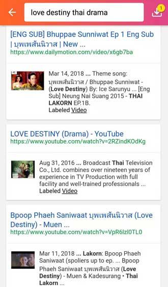 Love Destiny Thai Drama