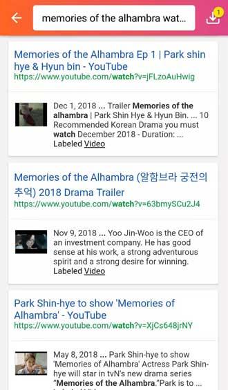 Memories of the Alhambra online watch