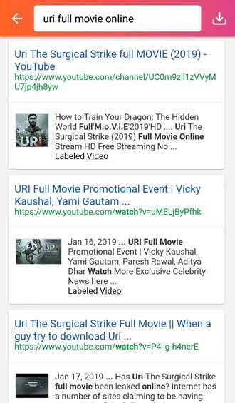 uri full movie online