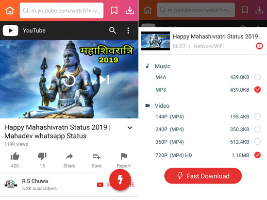 download Mahashivratri wish videos YouTube InsTube