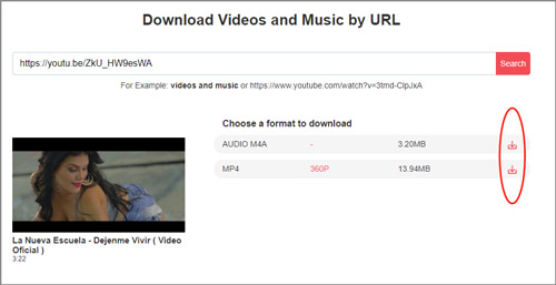 click video download icon