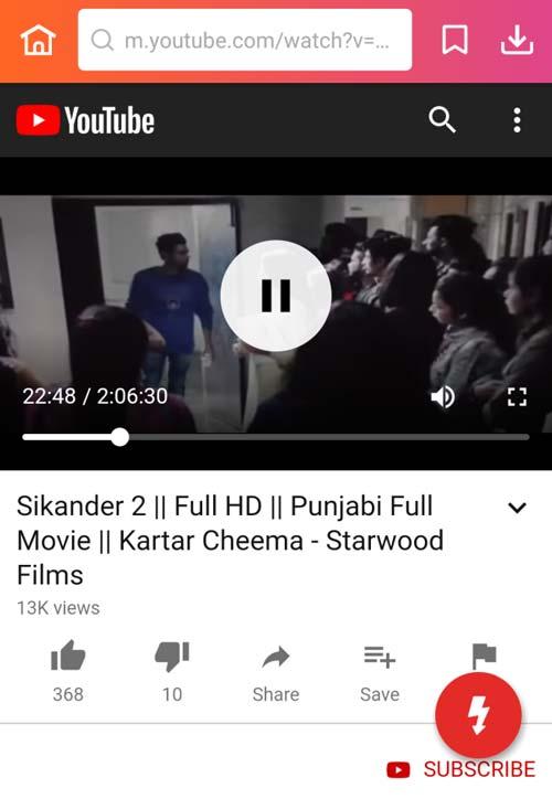download Sikander 2 full Punjabi movie from YouTube