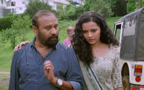 Sandra and father in Ganagandharvan