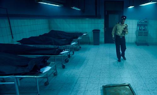 the body in morgue